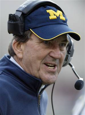 Lloyd Carr, who often punted the ball into the end zone